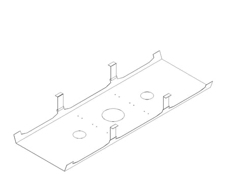 R8 Lite Back To Back Desk Deluxe Cable Tray Dimensions