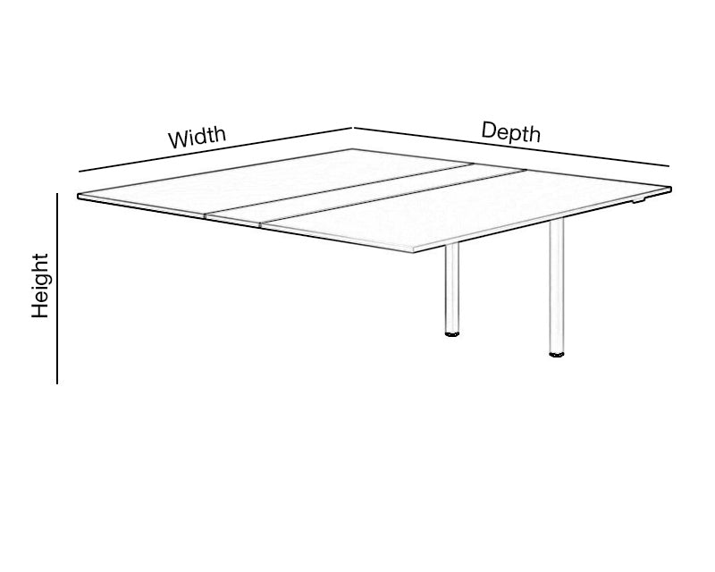 Meeting Table Add On Unit Dimensions