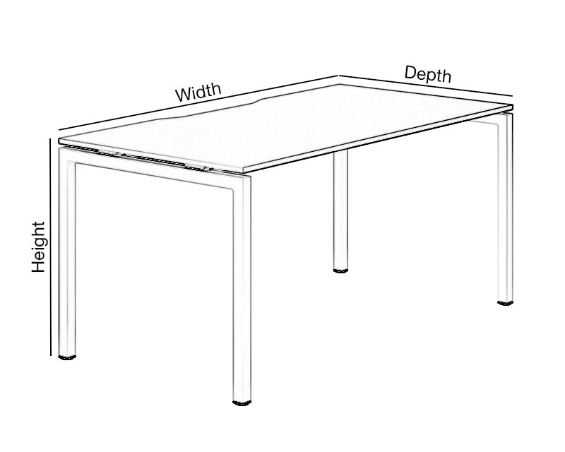 Single Desk Dimensions