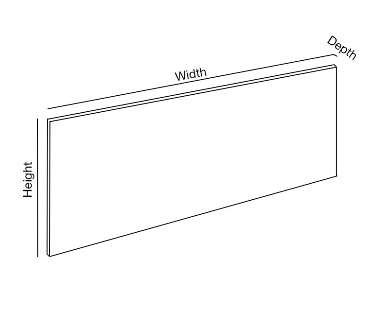 Single Desk Modestu Panel Dimensions