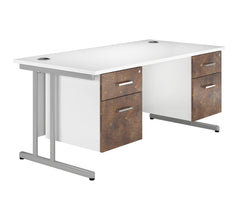 URBAN Cantilever Double Pedestal Desk