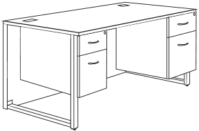 duo desk dimensions