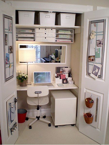 cupboard office. sometimes all you need is an empty cupboard and a little imagination to create your very own home office this one from diyshowoff great example of