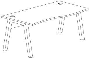 A-frame desk dimensions