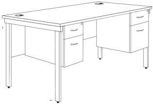 bench desk dimensions