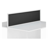 Aluminium KOMO Desk Mounted Screen with White Trim and Clamp Fit
