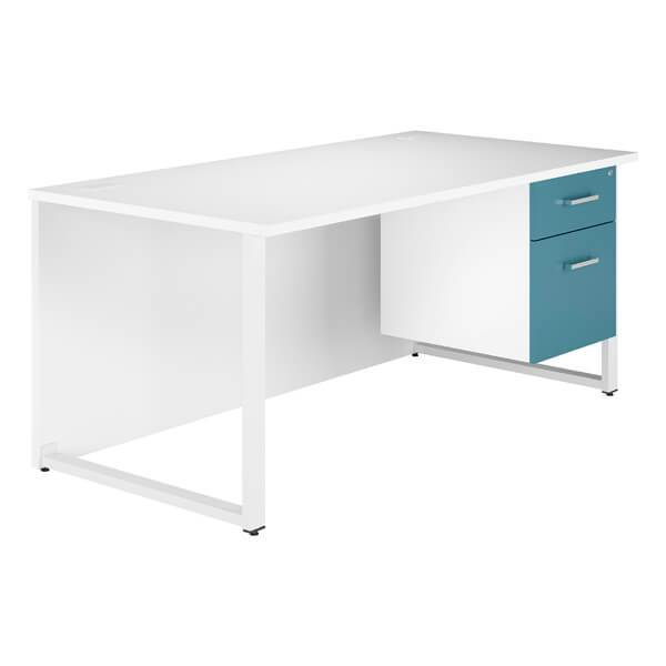 B2 Workology Pedestal Desk (6 HD colours + 2 sizes) W1200mm / Blue / Next Working Day — Kit Out My Office - 3