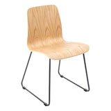 Covent Side Chair with Black Steel Leg