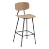 Finchley Bar Stool with Steel Leg