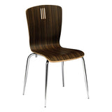Holborn Zebrano Dining Chair with Chrome Leg