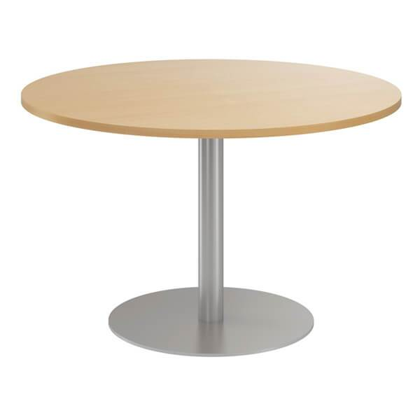 Circular Column Meeting Table (5 colours) Beech / Circular / Next Working Day — Kit Out My Office - 1