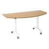 Sylvan KOMO D-End Eco Flip Top Meeting Table with White Leg