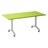 Kaleidoscope KOMO Rectangular Eco Flip Top Meeting Table with Silver Leg
