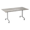 Urban KOMO Rectangular Eco Flip Top Meeting Table with Silver Leg