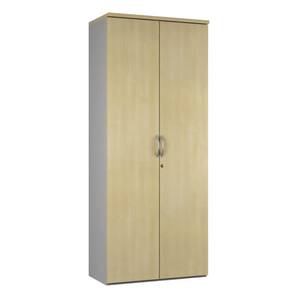 Noble Tall Office Cupboard (4 woodgrain colours) W800mm / Maple / Next Working Day — Kit Out My Office - 2