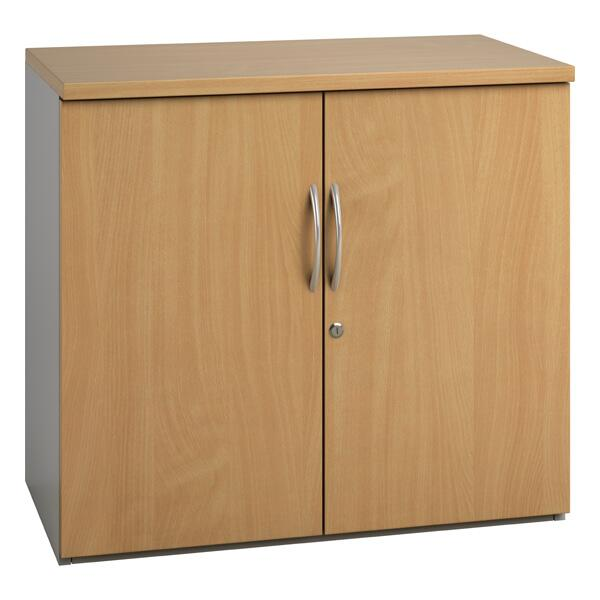 Noble Small Office Cupboard (4 woodgrain colours) W800mm / Beech / Next Working Day — Kit Out My Office - 1
