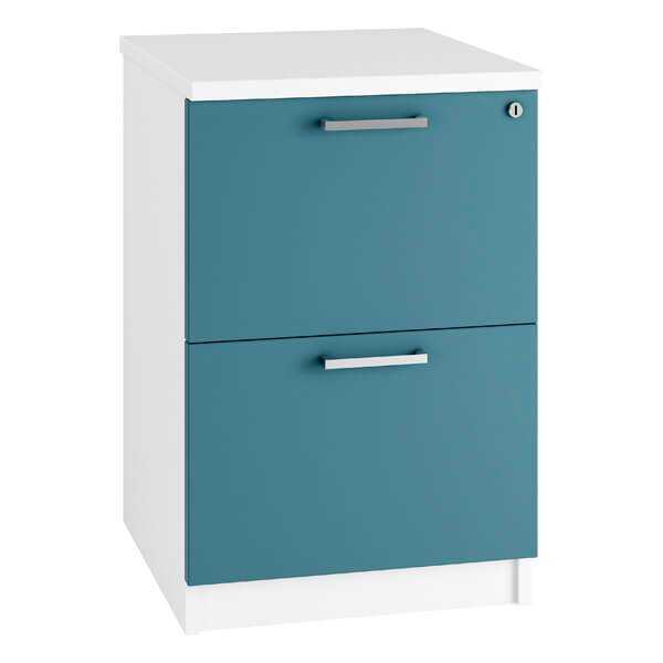 HD Filing Cabinet Drawers (3 sizes + 6 colours) H730mm | 2 Drawer / Blue / Next Working Day — Kit Out My Office - 2