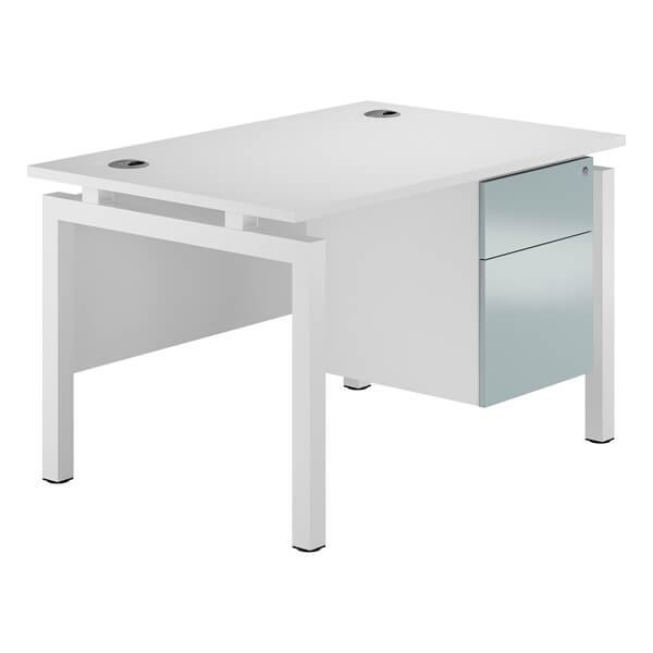 Touch Bench Pedestal Desk  (3 colours + 2 sizes) W1200mm / Blue Metallic / Next Working Day — Kit Out My Office - 1
