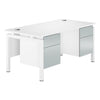 Touch Bench Double Pedestal Desk  (3 colours) W1600mm / Blue Metallic / Next Working Day — Kit Out My Office - 1