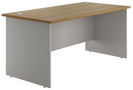 Noble Panel End Rectangular Desk  (5 woodgrain colours) W1200mm / Walnut / Next Working Day — Kit Out My Office - 1