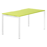 Kaleidoscope R8 Lite Rectangular Starter Desk with White Bench Legs