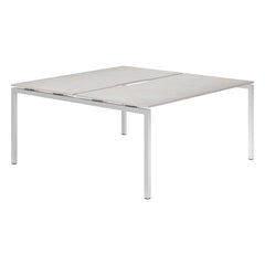 Urban R8 Lite 2 Person Back To Back Desk (Silver Leg)
