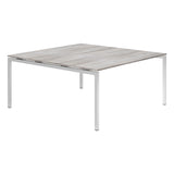 Urban R8 Lite 2 Person Back To Back Desk with Silver Bench Legs