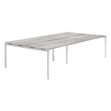 Urban R8 Lite 4 Person Back To Back Desk with Silver Bench Legs