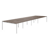 Urban R8 Lite 8 Person Back To Back Desk with Silver Bench Legs