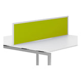 R8 Lite Aluminium Desk Screen with Fabric Finish and White Trim