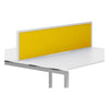 R8 Lite Aluminium Desk Screen with Acrylic Finish and White Trim