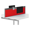 R8 Lite Aluminium Desk Screen and Tool Rail with Acrylic Finish and Silver Trim