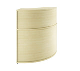 Curved Reception Desk Corner Unit  (4 colours) W800mm / Maple / 14 Working days — Kit Out My Office - 1