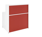 Return Reception Desk (6 bright HD colours) W1000mm / Red / 7 Working days — Kit Out My Office - 1