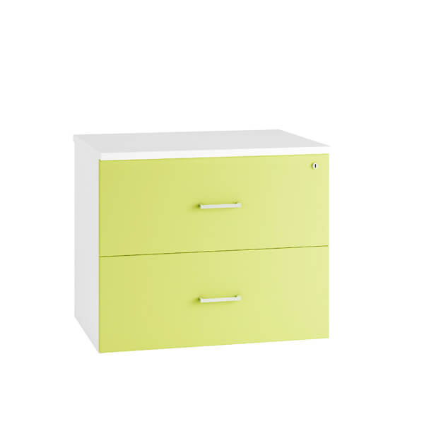HD Colour Side Filing Cabinet Drawers (6 colours) Green / H730mm | 2 Drawer / Next Working Day — Kit Out My Office - 1