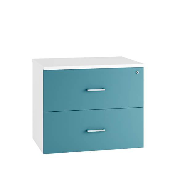 HD Colour Side Filing Cabinet Drawers (6 colours) Blue / H730mm | 2 Drawer / Next Working Day — Kit Out My Office - 2