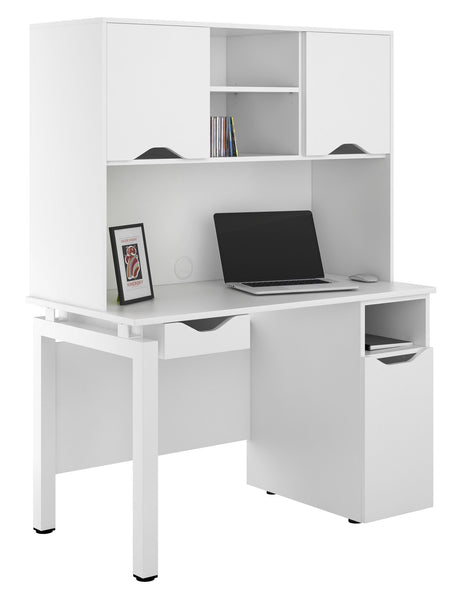 Arctic White Computer Desk + Ultimate Storage W1200mm / Matt White — Kit Out My Office - 1
