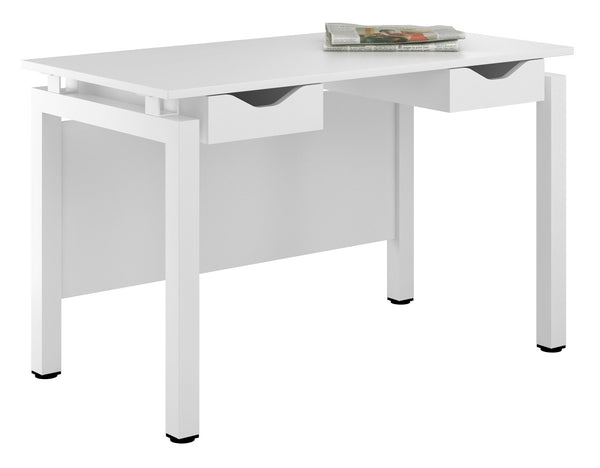 Arctic White Desk with Double Drawers W1200mm / Matt White — Kit Out My Office - 1