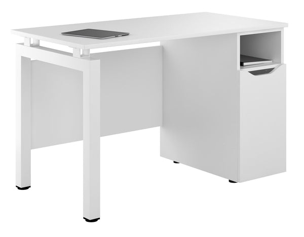 Arctic White 1200mm Desk + Cupboard Storage W1200mm / Matt White — Kit Out My Office - 1