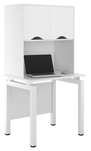 Arctic White Small Storage Desk W800mm / Matt White — Kit Out My Office - 1