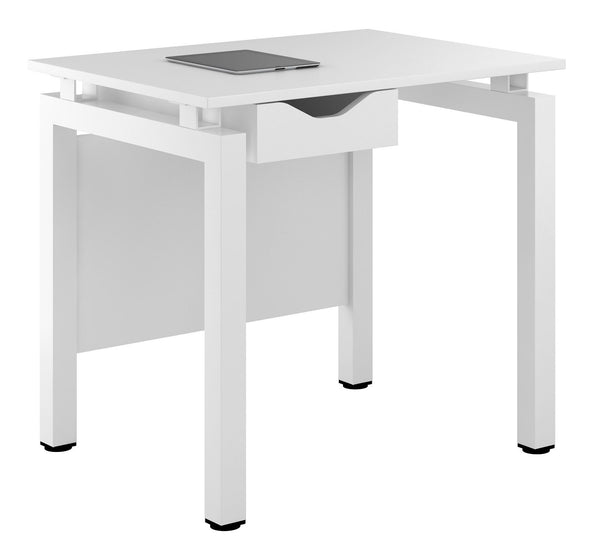 Arctic White Small Writing Desk - with Drawer W800mm / Matt White — Kit Out My Office - 1