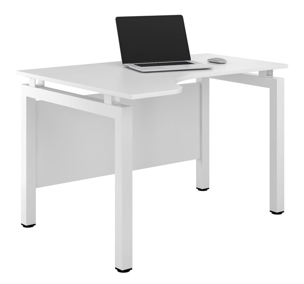 Arctic White Home Office Corner Desk W1200mm / Matt White / Left — Kit Out My Office - 1