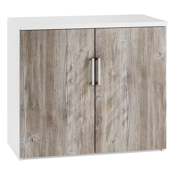URBAN Small Office Cupboard (4 colours) - W800 x H730mm H730mm / Platinum Oak / Next Working Day — Kit Out My Office - 2