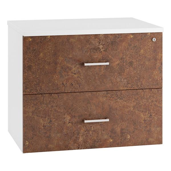 URBAN Side Filing Cabinet Drawers (4 colours) H730mm | 2 Drawer / Rusted Steel / Next Working Day — Kit Out My Office - 2