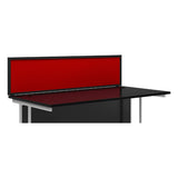 Red KOMO Value Aluminium Desk Screen with Black Trim and Clamp Fit - Next Day