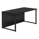 Vanta Black Rectangular Desk with Hoop Legs