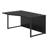 Vanta Black Wave Desk with Hoop Legs