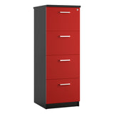 Red KOMO Value 4 Drawer Filing Cabinet - Next Day