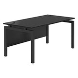 Vanta Black Rectangular Desk with Bench Legs