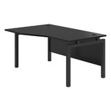 Vanta Black Wave Desk with Bench Legs